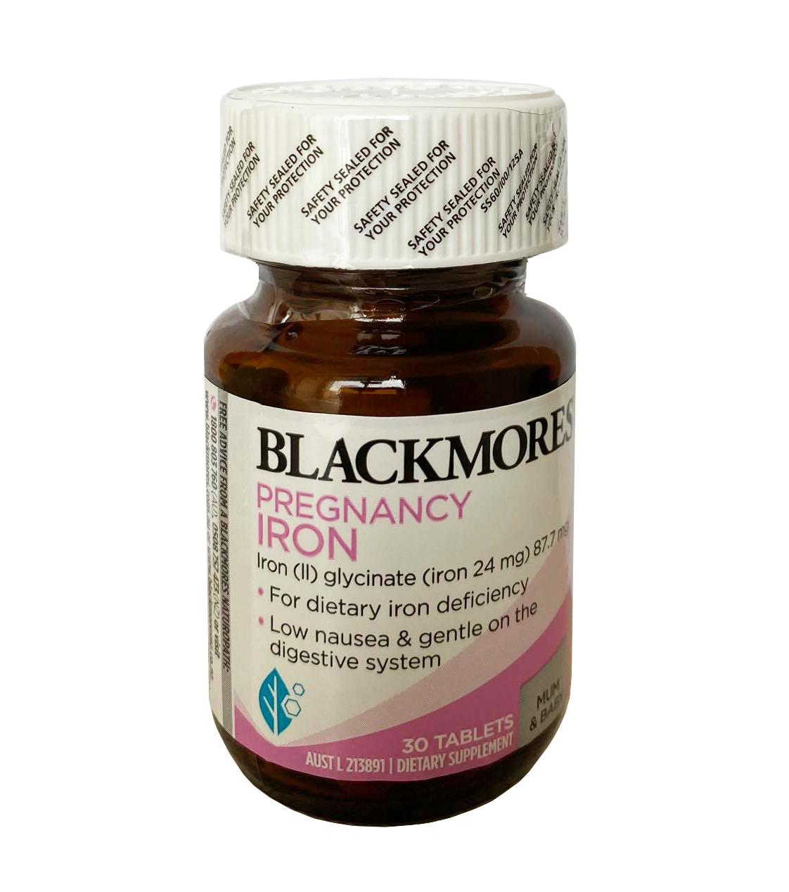 [MẪU MỚI] Sắt cho bà bầu Blackmores Pregnancy Iron 30 viên