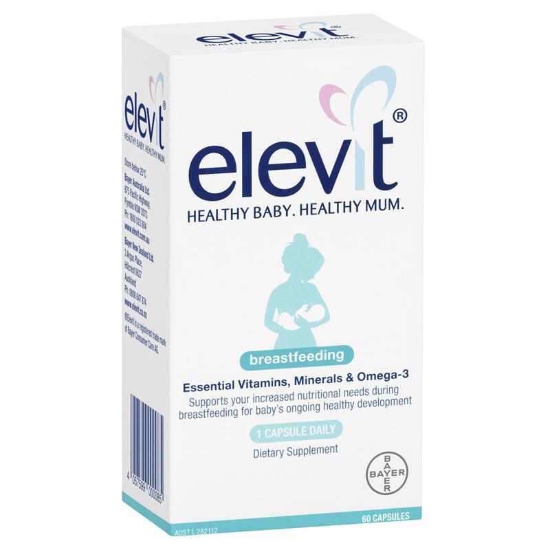 Elevit Breastfeeding – Elevit sau khi sinh và cho con bú 60 viên