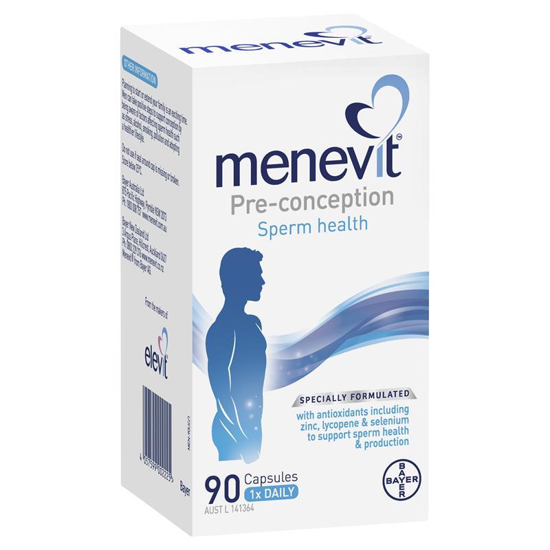 Menevit 90 viên giúp cải thiện và nâng cao chất lượng tinh trùng