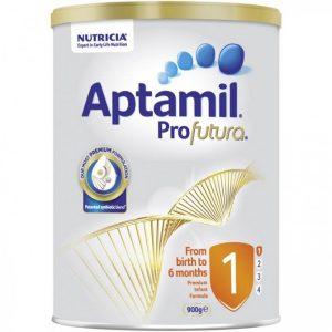 Sữa APTAMIL Úc Profutura Số 1Dành cho bé từ 0 – 6 tháng tuổi (900G)