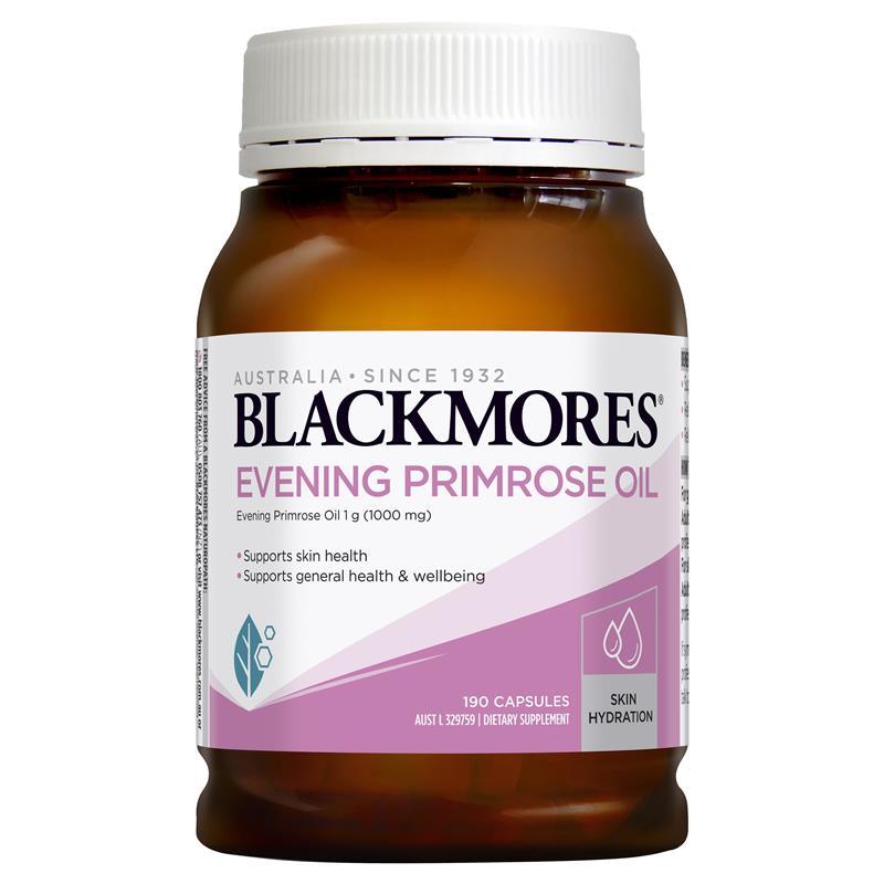 Tinh dầu hoa anh thảo Blackmores Úc Evening Primrose oil 190 viên – MẪU MỚI NHẤT