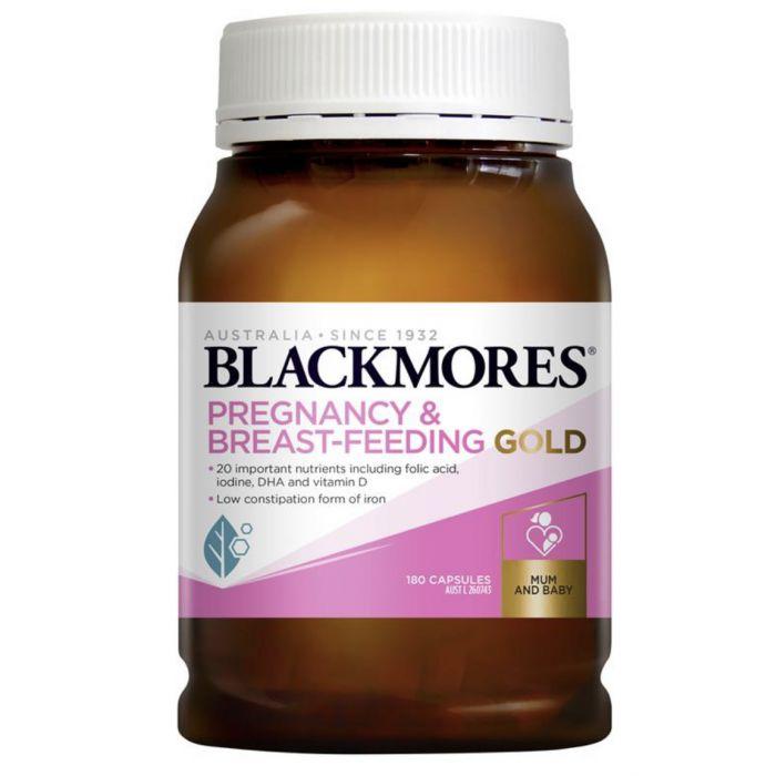 Vitamin Blackmores bầu và cho con bú 180v – Vitamin bầu Úc chính hãng
