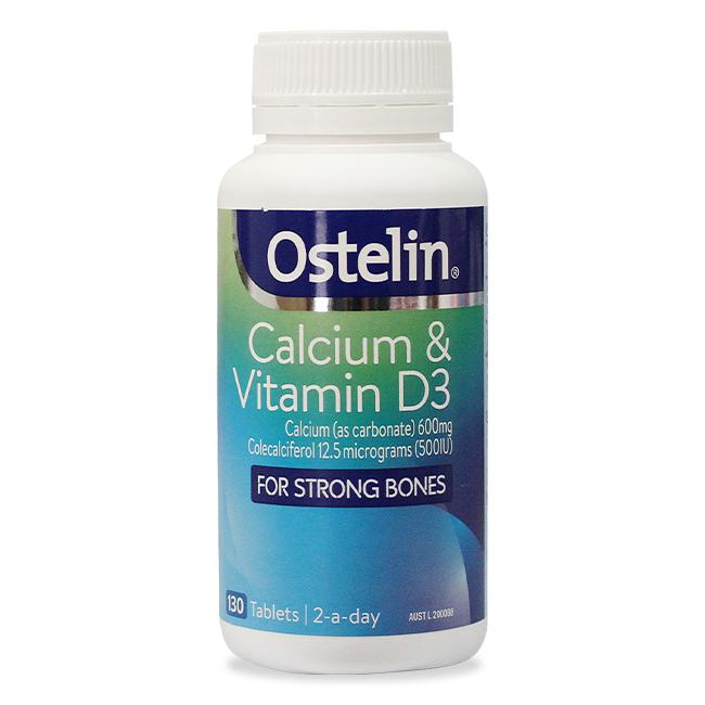 Ostelin Canxi và Vitamin D 130 viên – Bổ sung Canxi cho bà bầu hàng đầu tại Úc