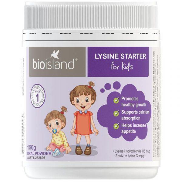 Bột Bio Island Lysine cho bé 150g – Bột tăng trưởng chiều cao