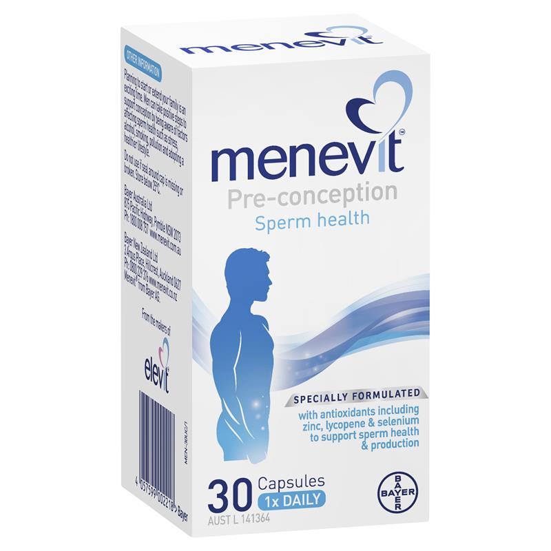 [MẪU MỚI] Menevit 30 viên – Nâng cao chất lượng tinh trùng cho nam giới
