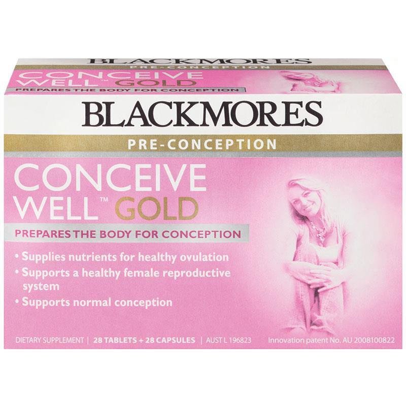 Blackmores tăng khả năng thụ thai Conceive Well Gold 56 viên