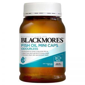 Dầu cá Blackmores không mùi 400 viên mẫu mới