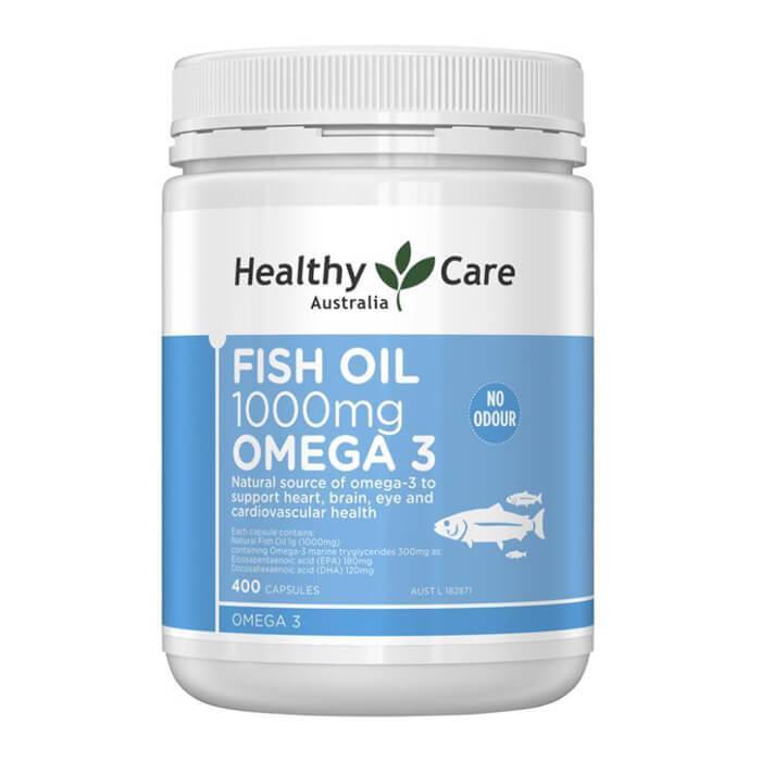 [MẪU MỚI] Dầu cá Healthy Care Fish Oil 1000mg Omega 3 400 viên – Bổ não, sáng mắt, tăng miễn dịch