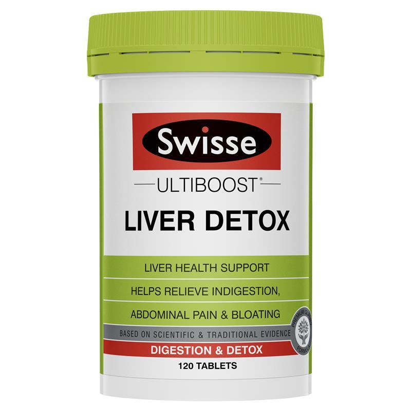 Thải độc gan Swisse Liver Detox 120 viên – Giải độc gan tốt nhất của Úc