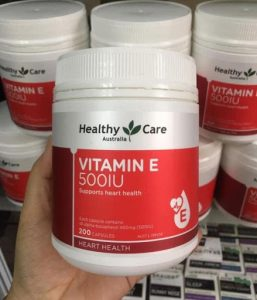 thành phần Vitamin E 500IU Healthy Care mẫu mới nhất