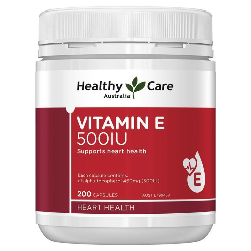 [MẪU MỚI] Vitamin E Healthy Care 500IU 200 viên của Úc bổ sung vitamin E tốt, giá hợp lý