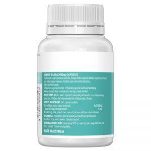 cách uống Bổ não Ginkgo Biloba Healthy Care Úc