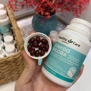 mua Bổ não Ginkgo Biloba Healthy Care Úc mẫu mới