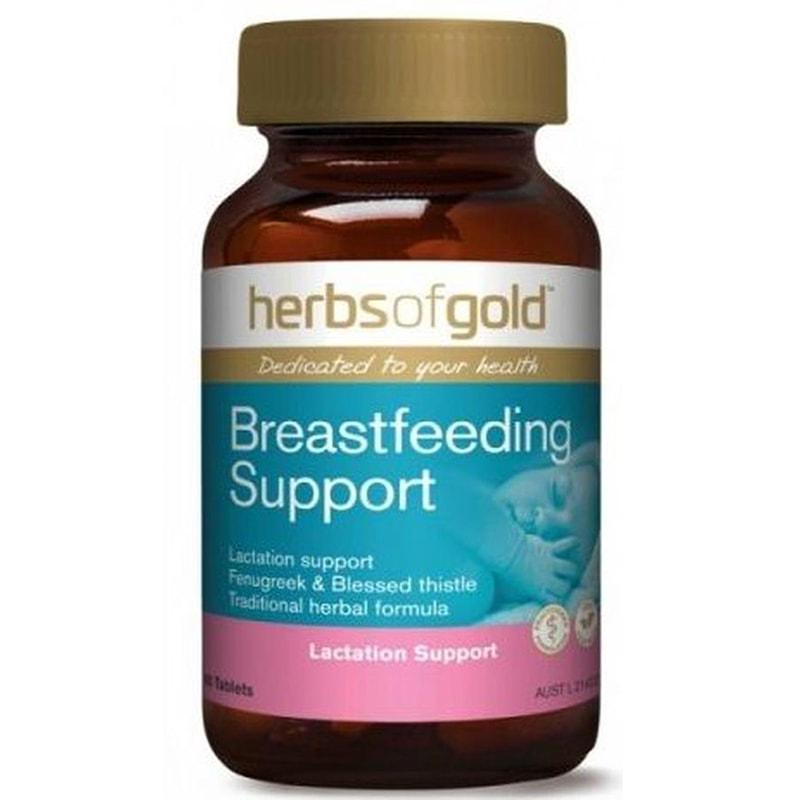 Lợi sữa Herbs of Gold Breastfeeding Support 60 viên – Kích sữa mẹ dồi dào, chất lượng