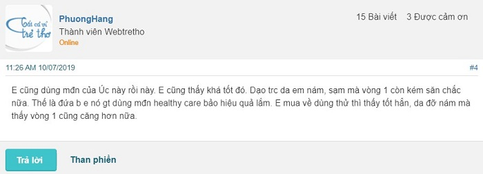 Review Mầm đậu nành Healthy Care