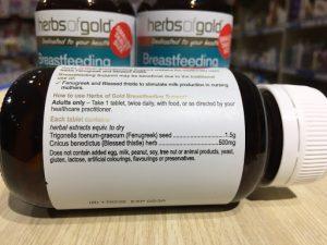 Thành phần và cách uống Lợi sữa Herbs of Gold Úc