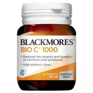 [BLACKMORES] Viên uống bổ sung vitamin C Blackmores Bio C 1000mg (Hộp 31 viên)