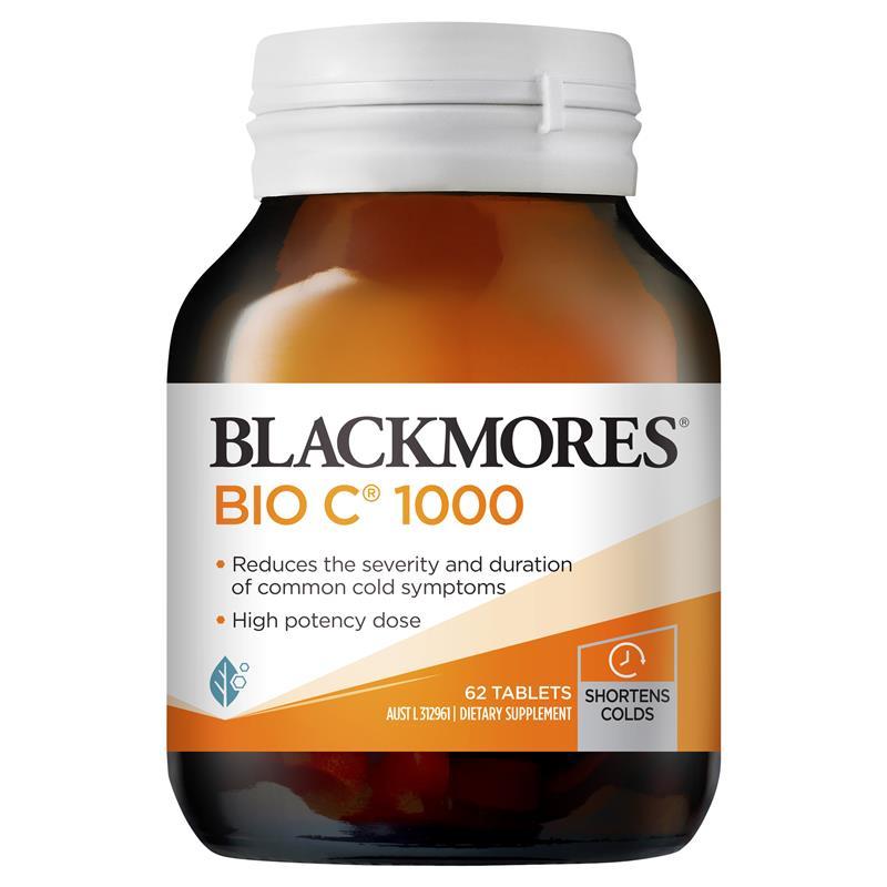 [MẪU MỚI] Vitamin C Blackmores Bio C 31 viên, 62 viên, 150 viên của Úc – Bổ sung Vitamin C chất lượng cao – 62 viên