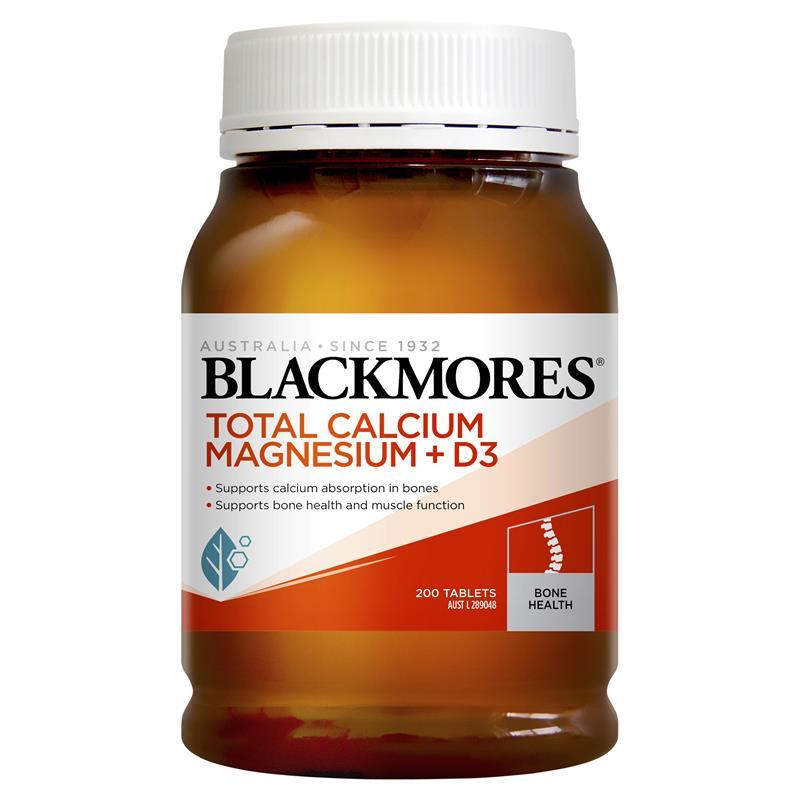 [MẪU MỚI] Blackmores Total Calcium & Magnesium + D3 200 viên – Bổ sung Canxi tốt nhất