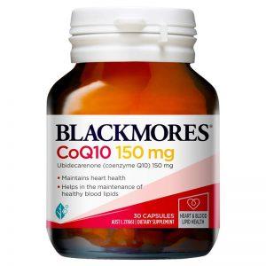 [BLACKMORES] CoQ10 150mg (Chai 30 viên) – bảo vệ sức khỏe tim mạch