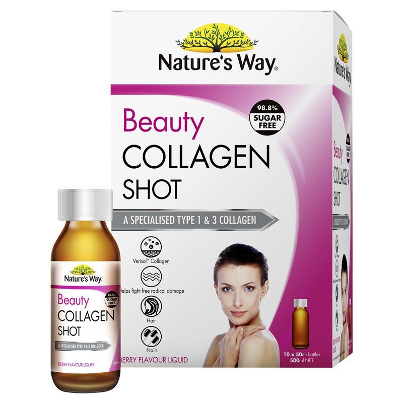Nature's Way Collagen Shot – Collagen tươi dạng nước cao cấp hấp thu nhanh của Úc