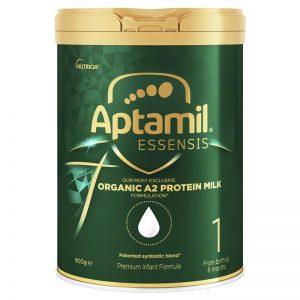 Sữa Aptamil Essensis số 1 Úc – Sữa công thức Organic dành cho bé sơ sinh đến 6 tháng tuổi