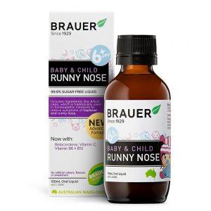 [MẪU MỚI] Siro trị sổ mũi Brauer Runny Nose Úc 100ml