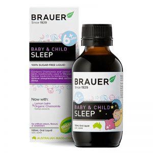 [MẪU MỚI] Siro giúp bé ngủ ngon Brauer Sleep của Úc