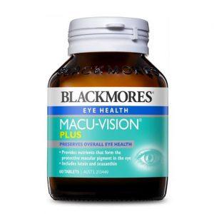 [BLACKMORES] Viên Uống Bảo Vệ Sức Khỏe Cho Mắt Blackmores Macu-Vision Plus 60 Viên