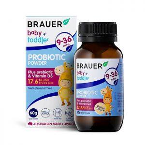 [BRAUER] Baby & Toddler Probiotic 60g – Thực phảm bảo vệ sức khỏe