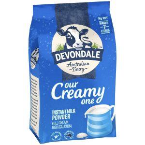 Devondale Full Cream Powder 1Kg – Sữa bột nguyên kem Devondale gói 1kg