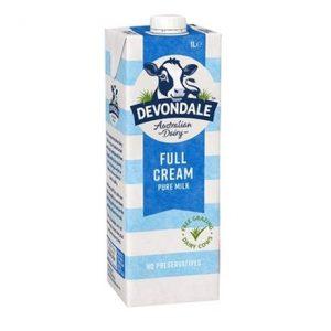 Devondale Full Cream 1L – Sữa tươi nguyên kem Devondale hộp 1L