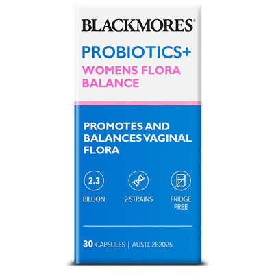 Blackmores Probiotic+ Women Flora 30 viên – Men vi sinh cho phụ nữ