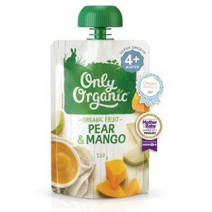 [CHÍNH HÃNG] Váng sữa và hoa quả nghiền Only Organic cho bé