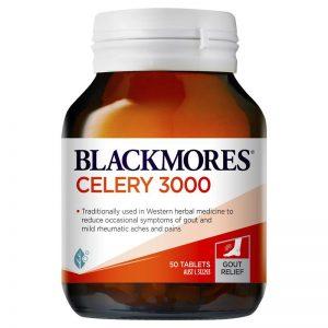 Viên uống hỗ trợ Gout Blackmores Celery 3000 50 viên