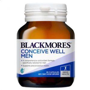 Viên uống Blackmores Conceive Well Men 28 viên – Tăng cường sức khỏe sinh sản cho nam giới