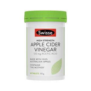 Viên giấm táo Swisse Apple Cider Vinegar Úc – Giữ gìn vóc dáng